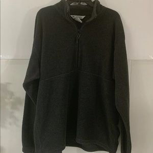 Columbia Mens Charcoal XL 3/4 Zip Pullover NICE